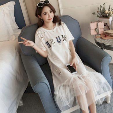Tričkové šaty s tylovou sukní FashionEU