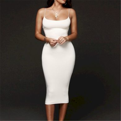 Koktejlové šaty na ramínka FashionEU