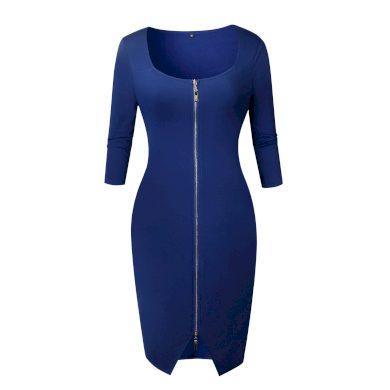 Dámské pouzdrové šaty na zip FashionEU