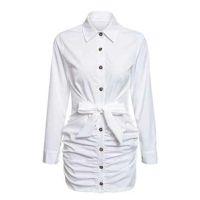 Propínací košilové šaty FashionEU