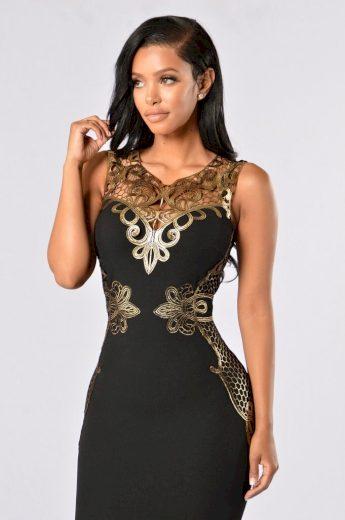 Luxusní pouzdrové šaty s krajkou FashionEU