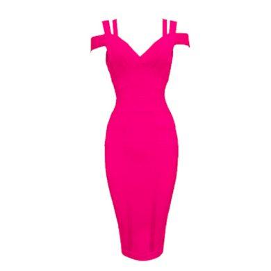 Bandážové pouzdrové šaty FashionEU