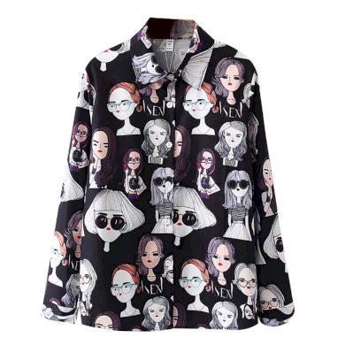 Dámská košile s potiskem A547 FashionEU
