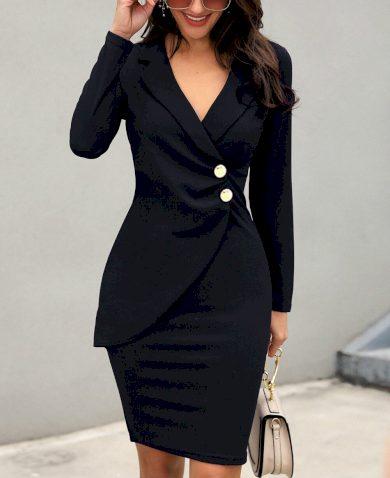 Pouzdrové šaty sakové FashionEU