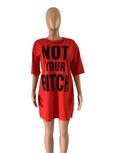 Tričkové šaty s nápisem FashionEU