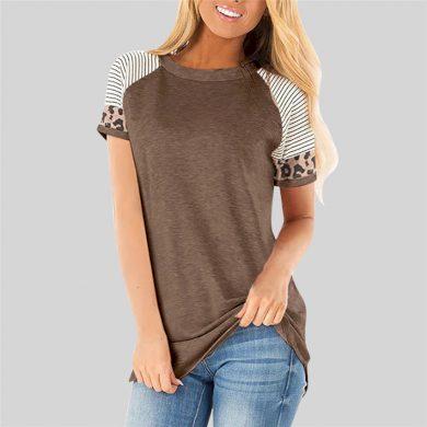 Dámské tričko s leopardím vzorem FashionEU