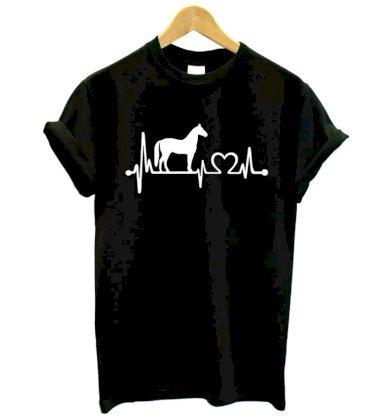 Dámské tričko s potiskem - Tep a kůň - 3 barvy FashionEU