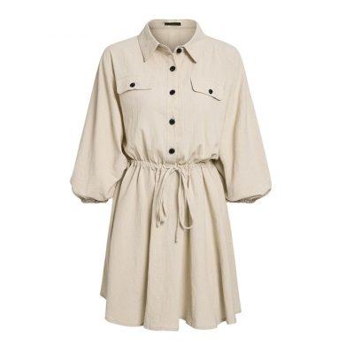 Dámské košilové mini šaty FashionEU