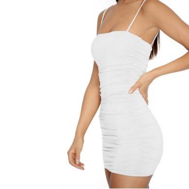 Dámské sexy mini šaty na ramínka FashionEU