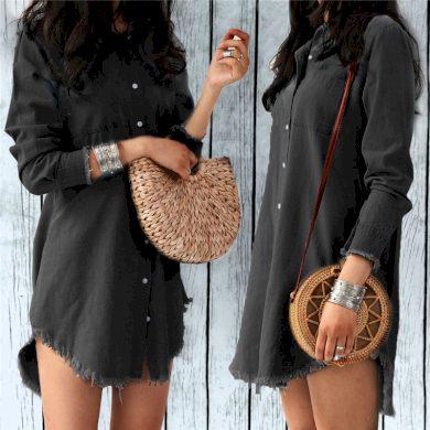 Košilové dámské mini šaty FashionEU