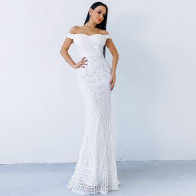 Dlouhé plesové šaty FashionEU