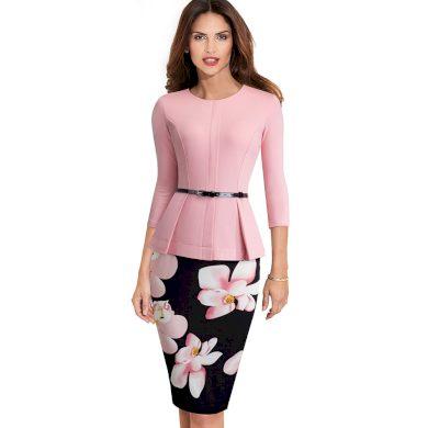 Společenské šaty s květinami FashionEU
