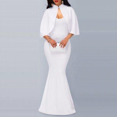 Společenské šaty s pelerínou FashionEU