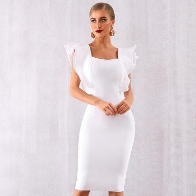 Společenské šaty s volánky FashionEU