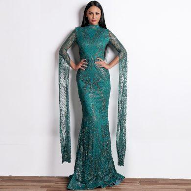 Plesové šaty s dlouhým rukávem FashionEU