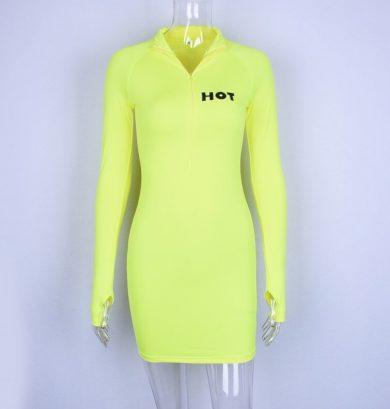 Sportovní mini šaty s dlouhým rukávem FashionEU