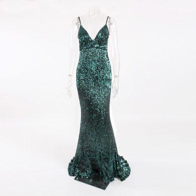 Dámské dlouhé flitrové šaty FashionEU