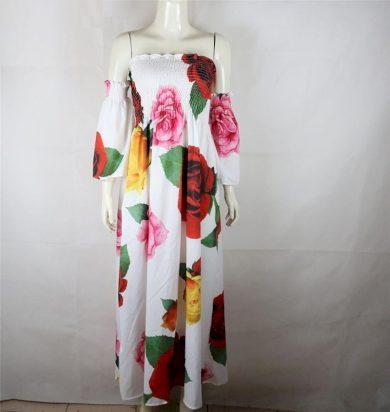 Květinové maxi šaty FashionEU
