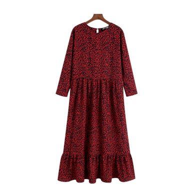 Dámské midi šaty s volánkem FashionEU