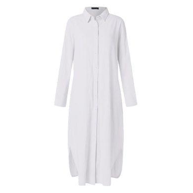 Košilové maxi šaty nadměrné velikosti FashionEU