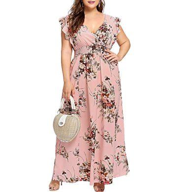 Dámské maxi šaty plus size FashionEU