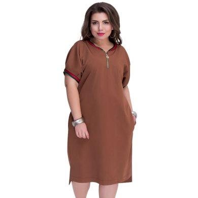 Tričkové šaty nadměrné velikosti FashionEU