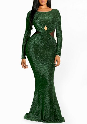 Dlouhé třpytivé šaty FashionEU