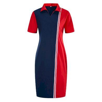 Plus size šaty s límečkem FashionEU