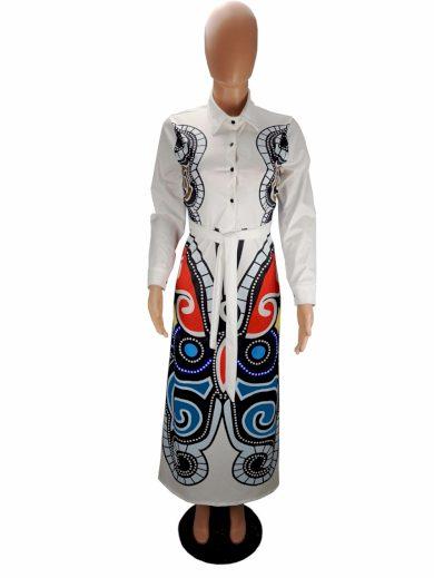 Maxi šaty košilové FashionEU