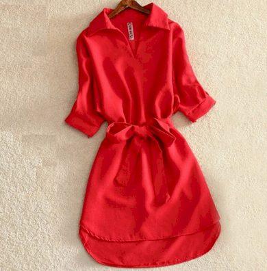 Mini šaty Ronda jednobarevné FashionEU
