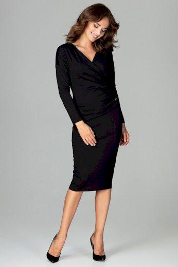 Pouzdrové šaty s nabíráním K477 LENITIF