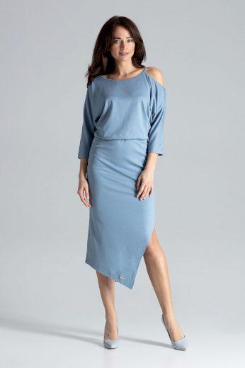 Pouzdrové šaty s odhaleným ramenem K479 LENITIF
