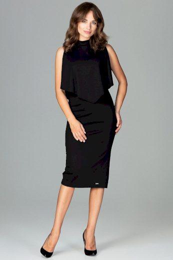 Dvouvrstvé šaty délky midi K480 LENITIF