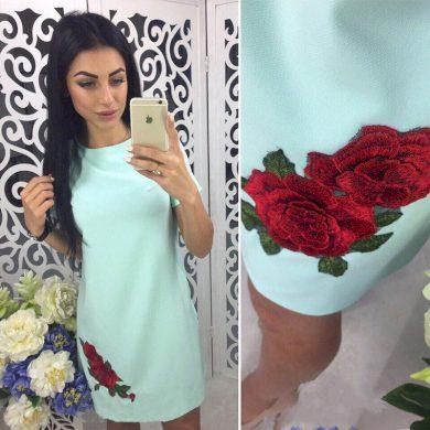 Dámské letní mini šaty s růžemi - 4 barvy FashionEU
