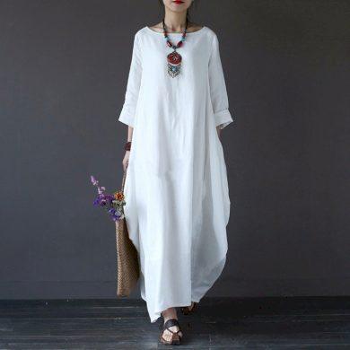 Dlouhé dámské šaty - tunika FashionEU