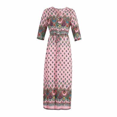 Dámské dlouhé šaty se vzorem FashionEU
