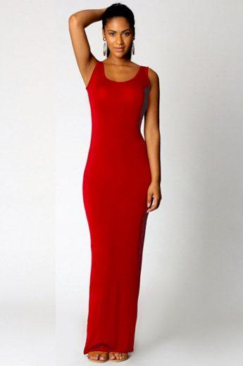 Elastické maxi šaty FashionEU