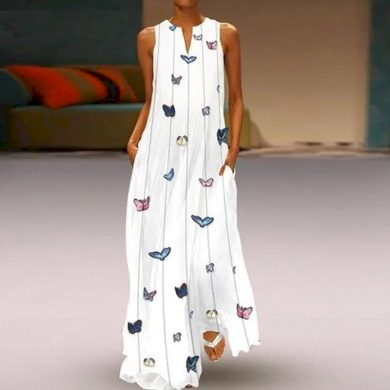 Romantické letní maxi šaty FashionEU
