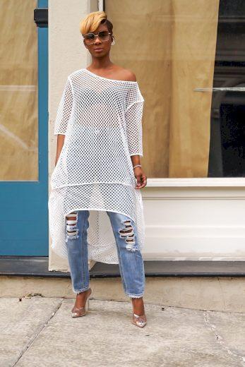 Dámské síťované midi šaty FashionEU