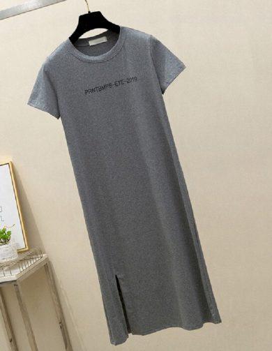 Tričkové midi šaty FashionEU