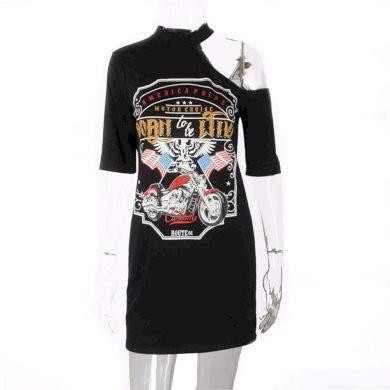 Tričkové mini šaty FashionEU