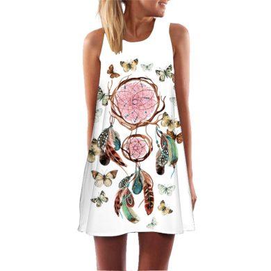 Krátké Boho šaty FashionEU