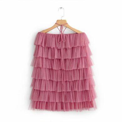 Vrstvené šaty bez ramínek FashionEU