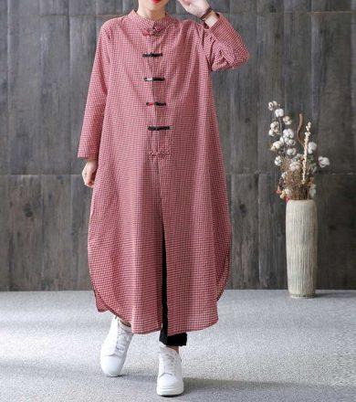 Maxi šaty se stojáčkem FashionEU