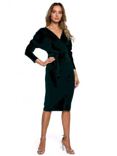 Sametové zavinovací šaty MOE M561