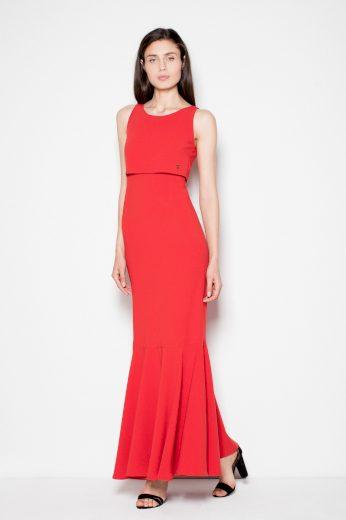 Jednoduché dlouhé šaty maxi VT090 VENATION