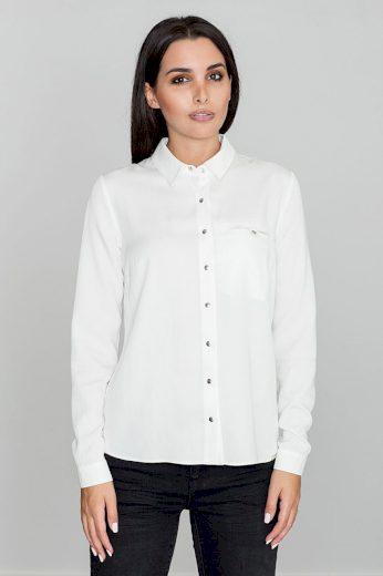Klasická košile s dlouhým rukávem a kapsou M581 FIGL