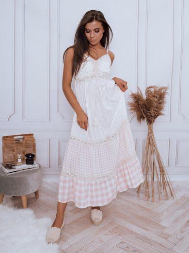 Dámské šaty boho SANTORI růžová Dstreet