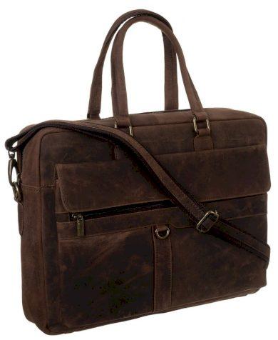 Pánská taška na notebook z pravé kůže s popruhem přes rameno
