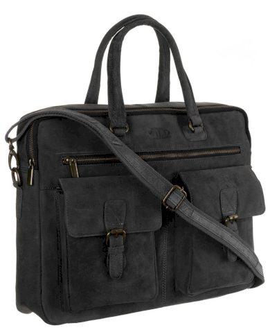 Pánská kabelka do kanceláře kožená taška na notebook s kapsami